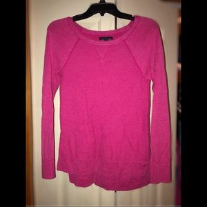 Hot Pink Long Sleeve AE Sweater